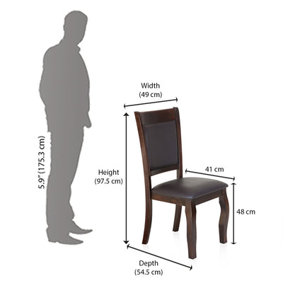 Kaiser Dining Chair (Cappucino)
