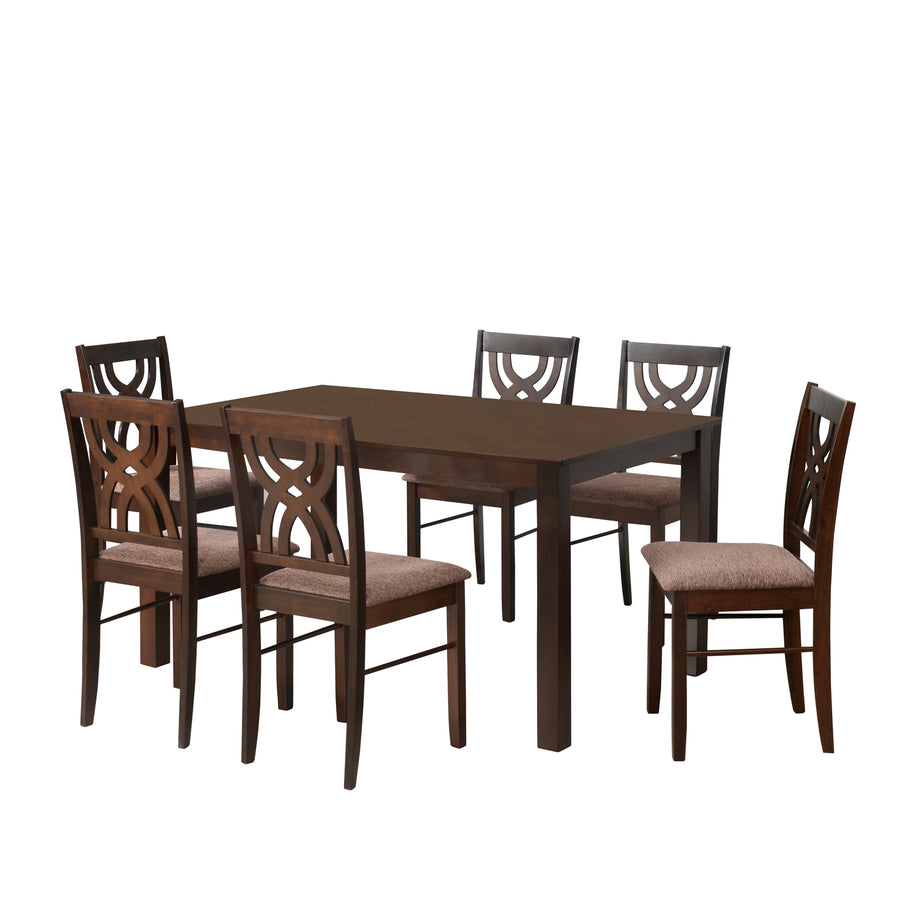 Alice Six Seater Dining Set (Antique Cherry)
