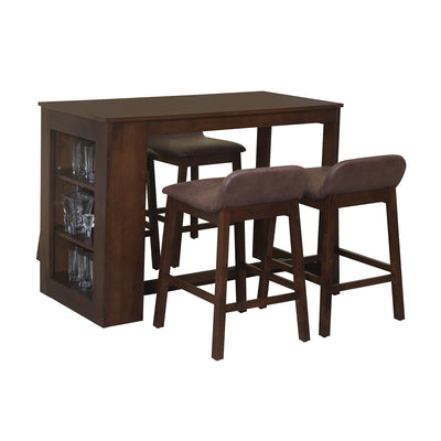 Cafe Four Seater Dining Set  (Walnut)