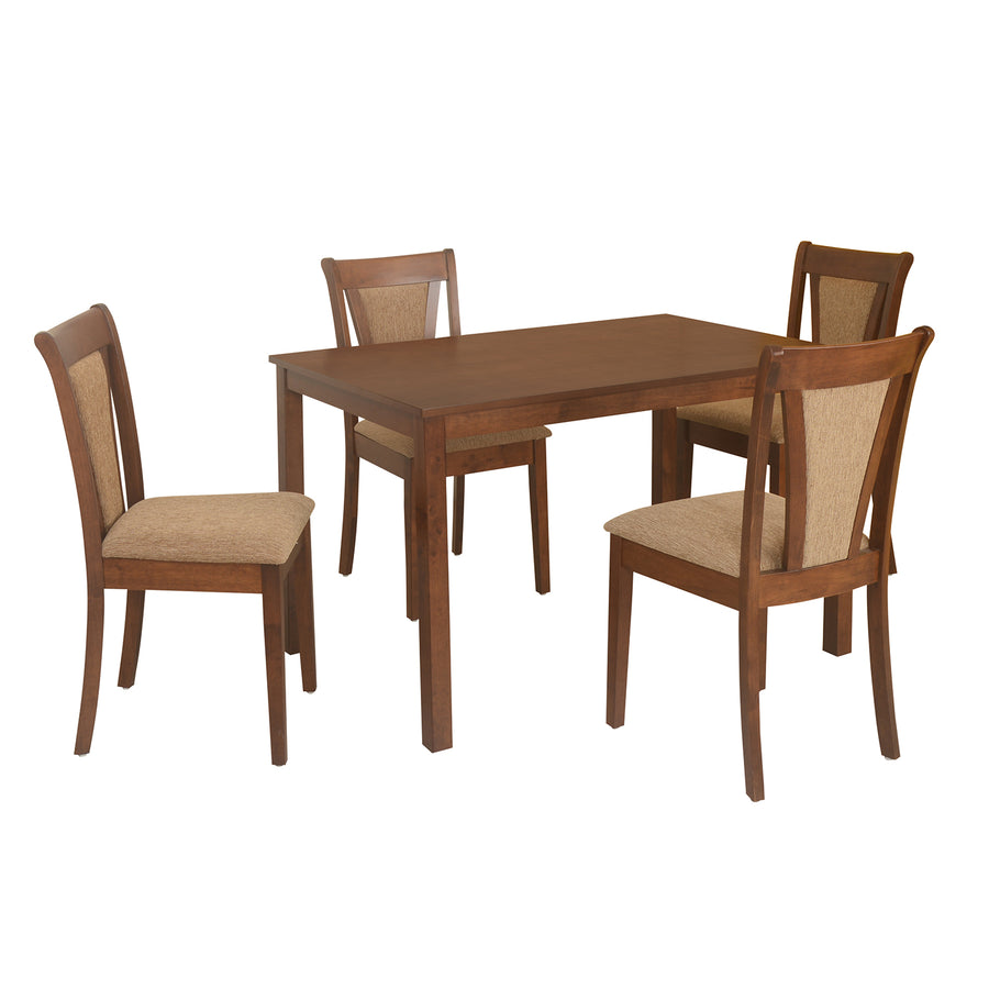 Jewel Four Seater Dining Set (Walnut)