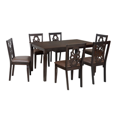 Luther Six Seater Dining Set (Antique Oak)