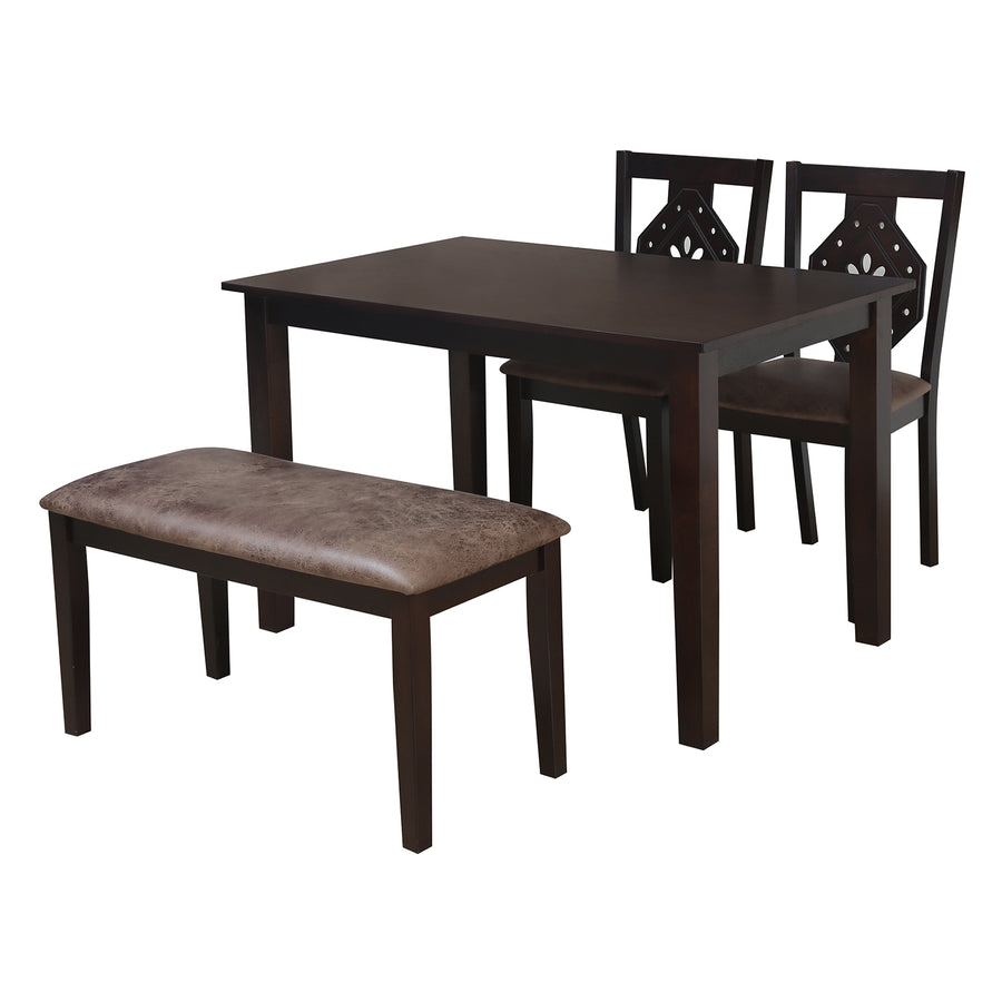 Precious Four Seater Dining Set With Bench (Antique Oak)