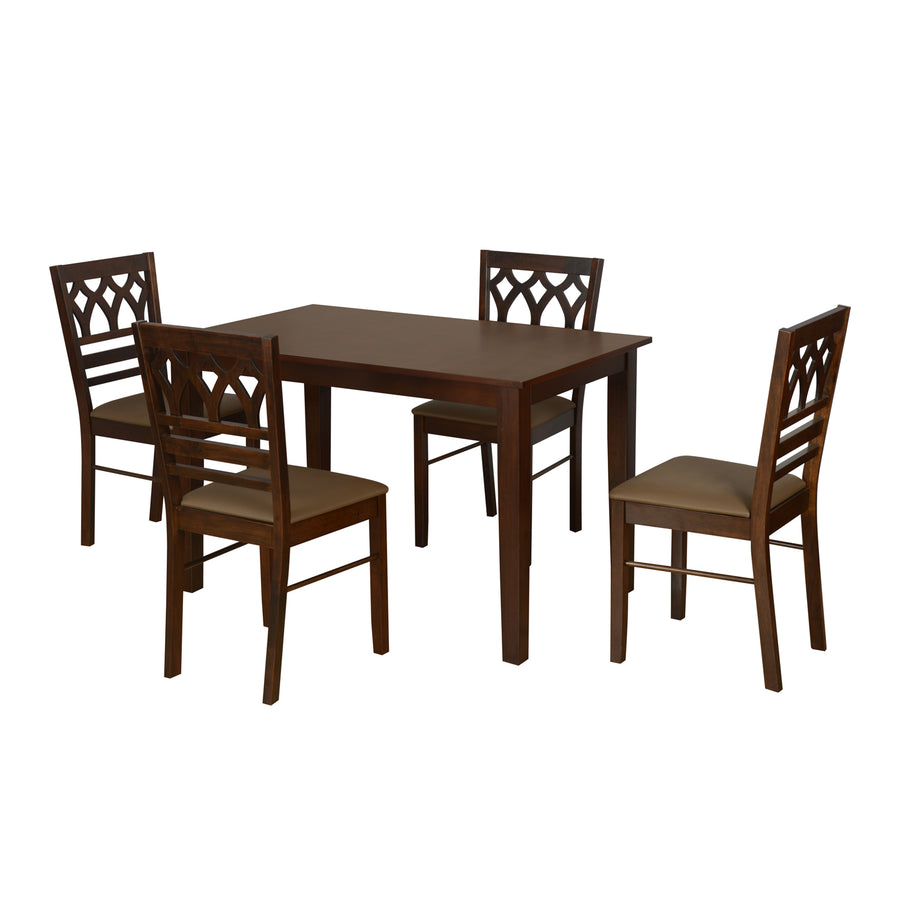 Rise Four Seater Dining Set (Antique Cherry)