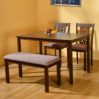 Sutlej 1+ 2+ Bench Dining Set (Antique Cherry)