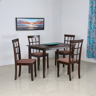 Trivia Four Seater Dining Set (Dark Cappucino)