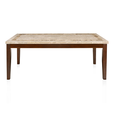 Jenn Eight Seater Dining Table (Beight & Walnut)