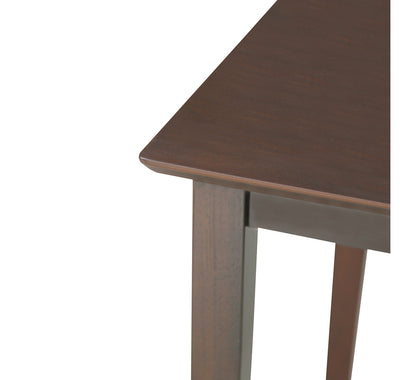 Trivia Four Seater Dining Table  (Dark Cappucino)