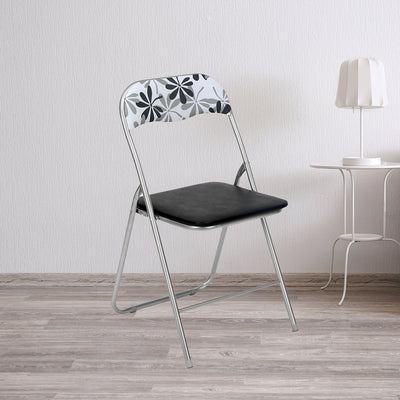 Tulsa Foldable Chair (Black & White)