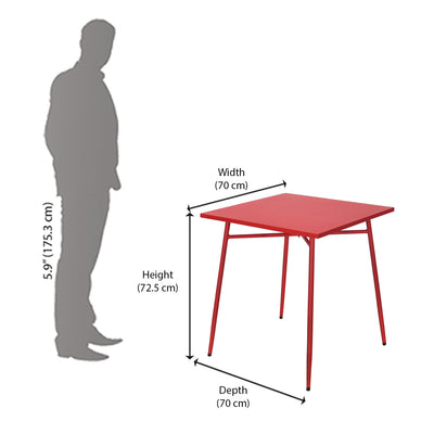 Ruby Garden Table (Red)