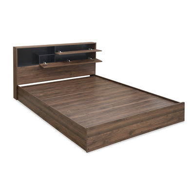 Borden King Bed With Headboard Storage (Wenge)