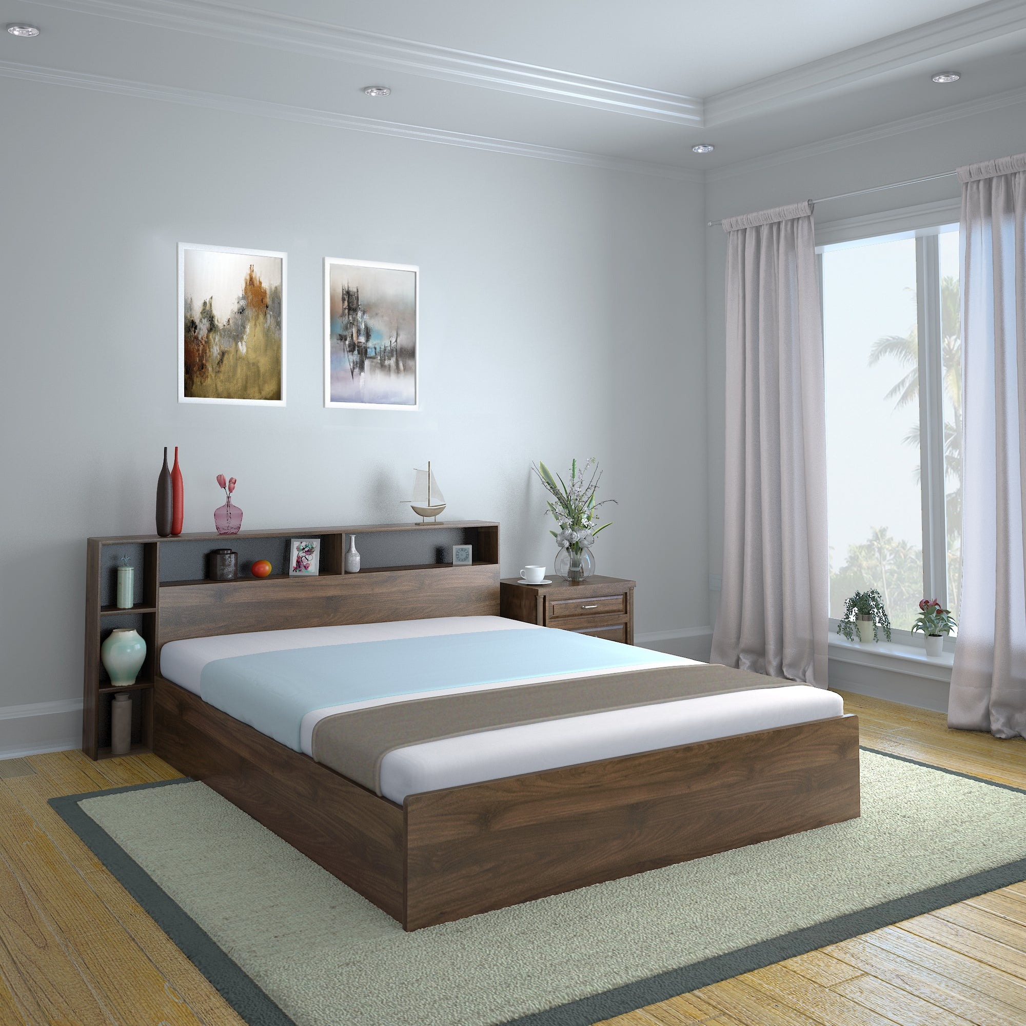 Picture of: Torrie King Bed With Headboard Box Storage Black Nilkamal At Home Home