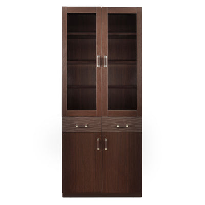 Winner 2 Door Library Cabinet (Dark Walnut)