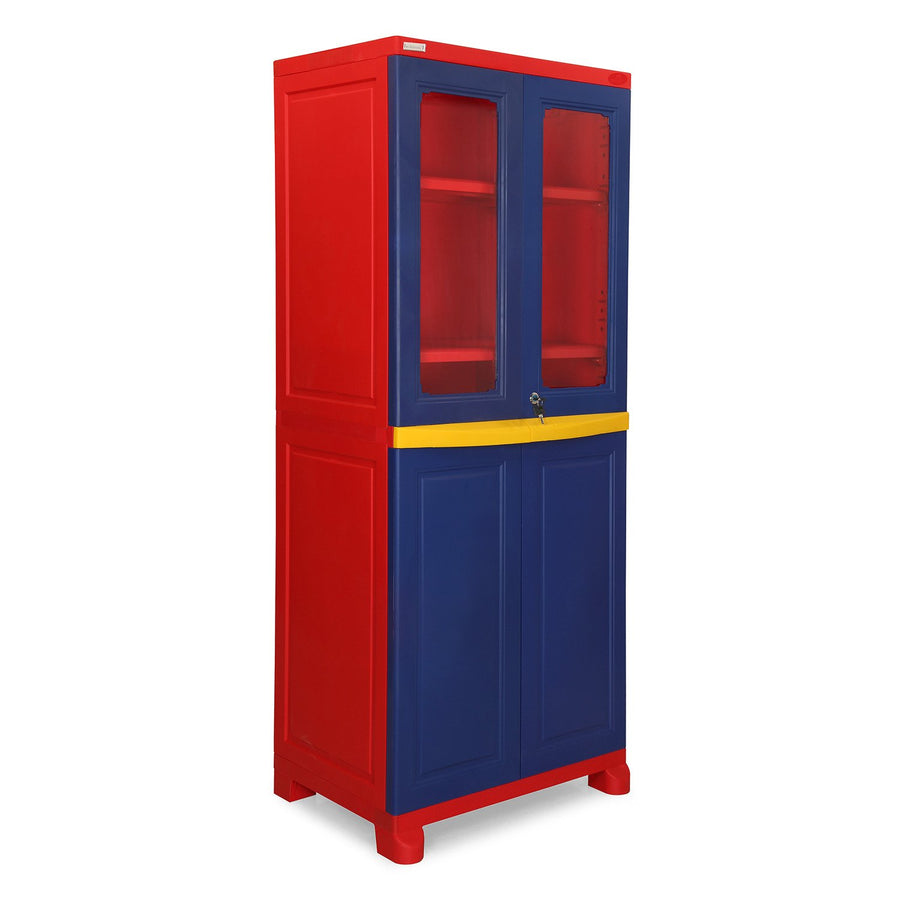 Nilkamal FB2 Freedom Cupboard (Blue, Red, & Yellow)