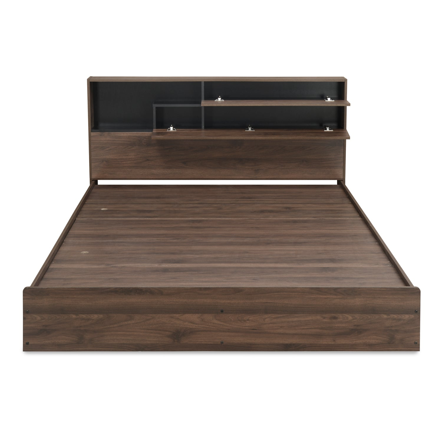 Borden Queen Bed With Headboard Storage Wenge Nilkamal At Home Home