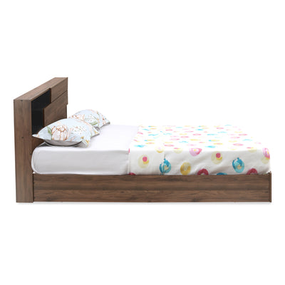 Borden Queen Bed with Headboard Storage (Wenge)