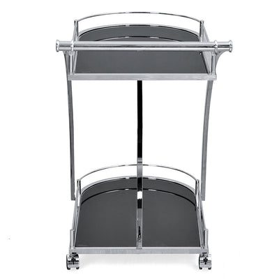 Juniper Serving Cart with Wheel (Black)