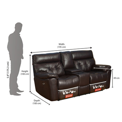 Beverly Home Theater 2 Seater Sofa (Burgundy)