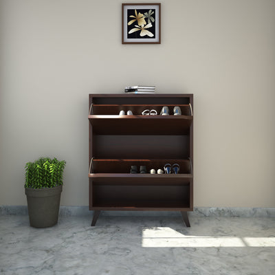 Martin Two Tier Shoe Cabinet (Walnut)