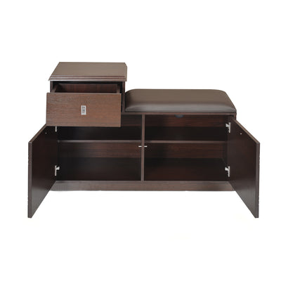 Roger Shoe Rack (Dark Walnut)