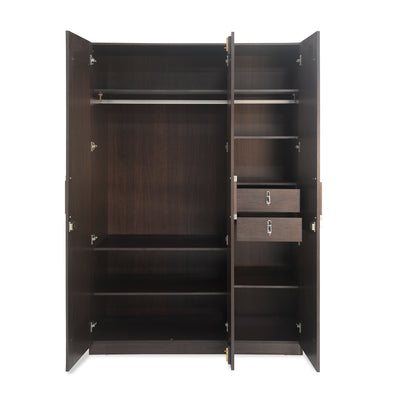 Emirates 3 Door Wardrobe (Dark Walnut)