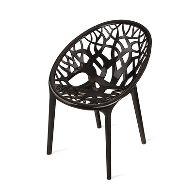 Nilkamal Crystal Polypropylene Chair (Black)