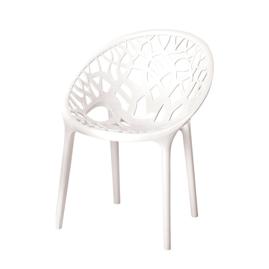 Nilkamal Crystal Polypropylene Chair (Milky White)