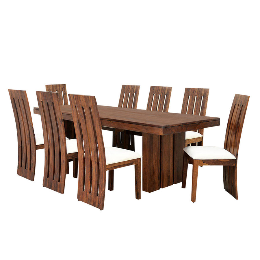 Delmonte Eight Seater Dining Set (Walnut)