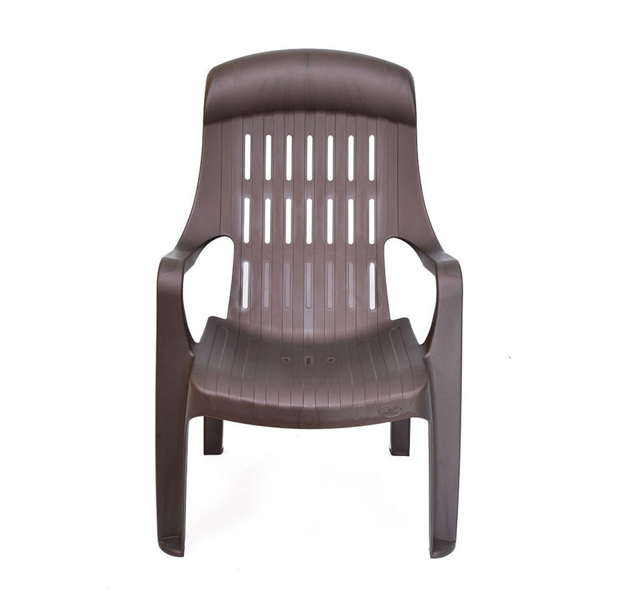 Nilkamal Weekender Garden Chair Set of 6 (Weather Brown)