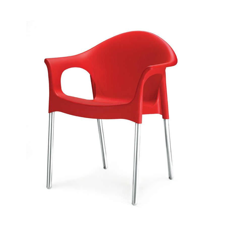 Nilkamal Novella 09 Plastic Chair (Red)