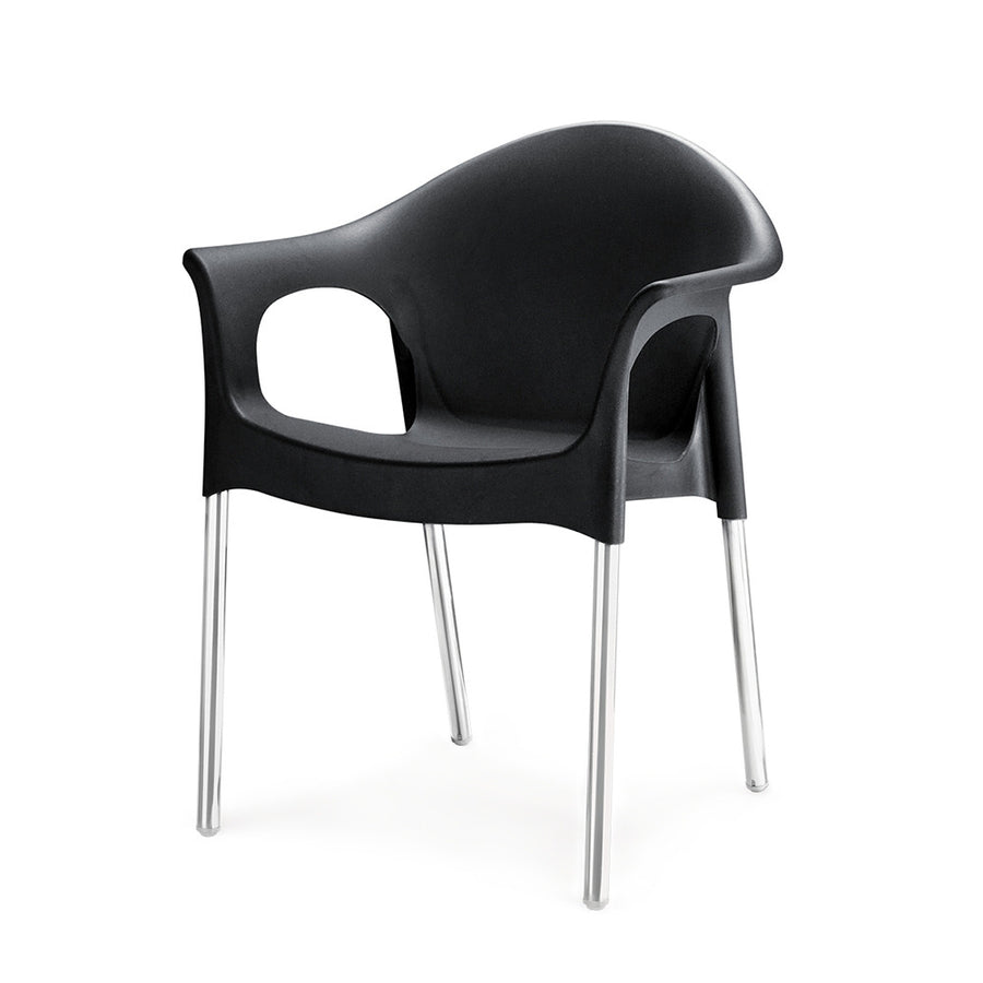 Nilkamal Novella 09 Plastic Chair (Black)