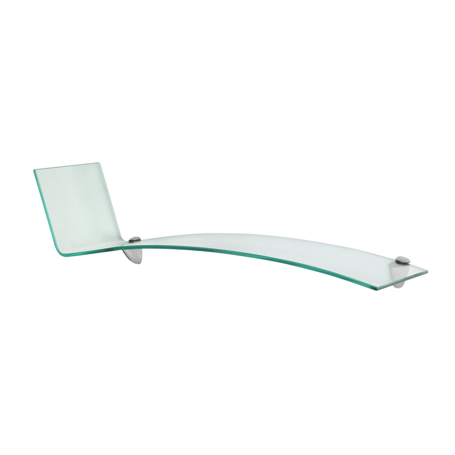 Flo Glass Wall Shelf (Clear)