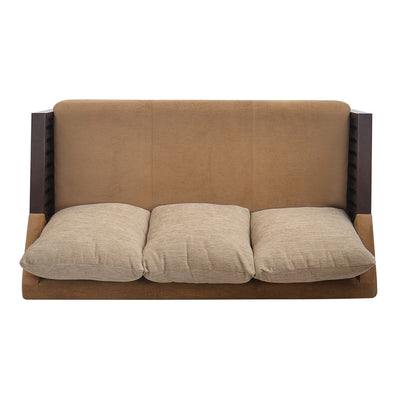 Chevy Three Seater Sofa (Latte Brown)