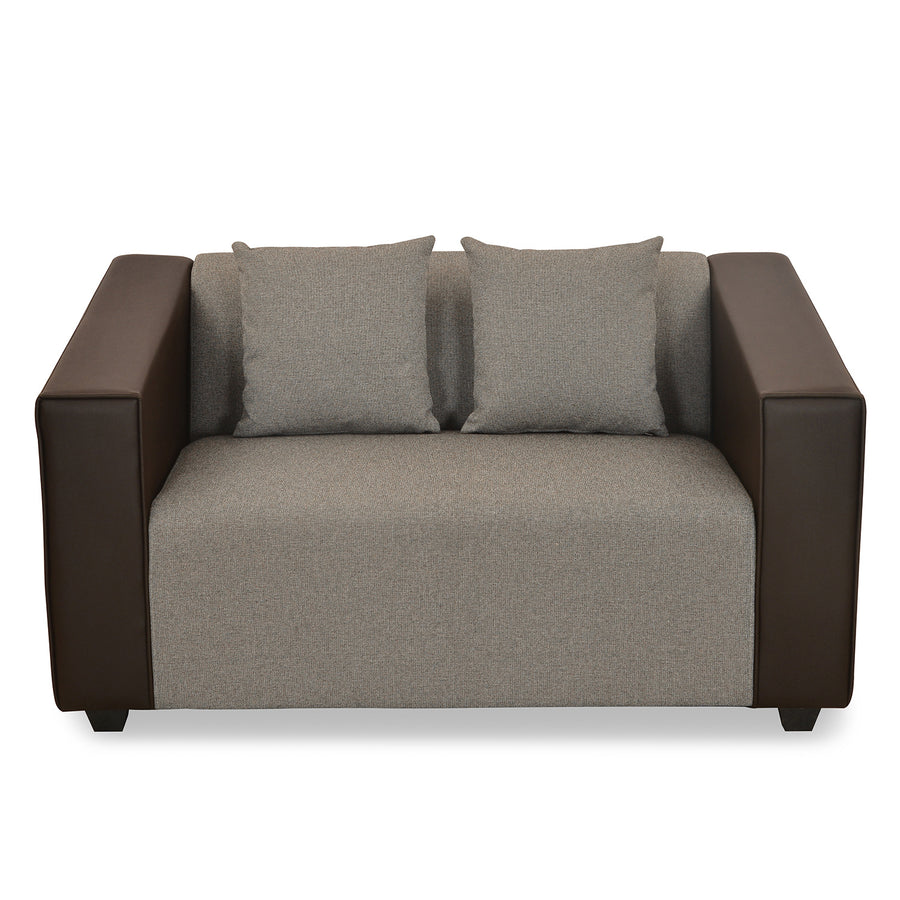 Diana Two Seater Sofa (Dark Brown)