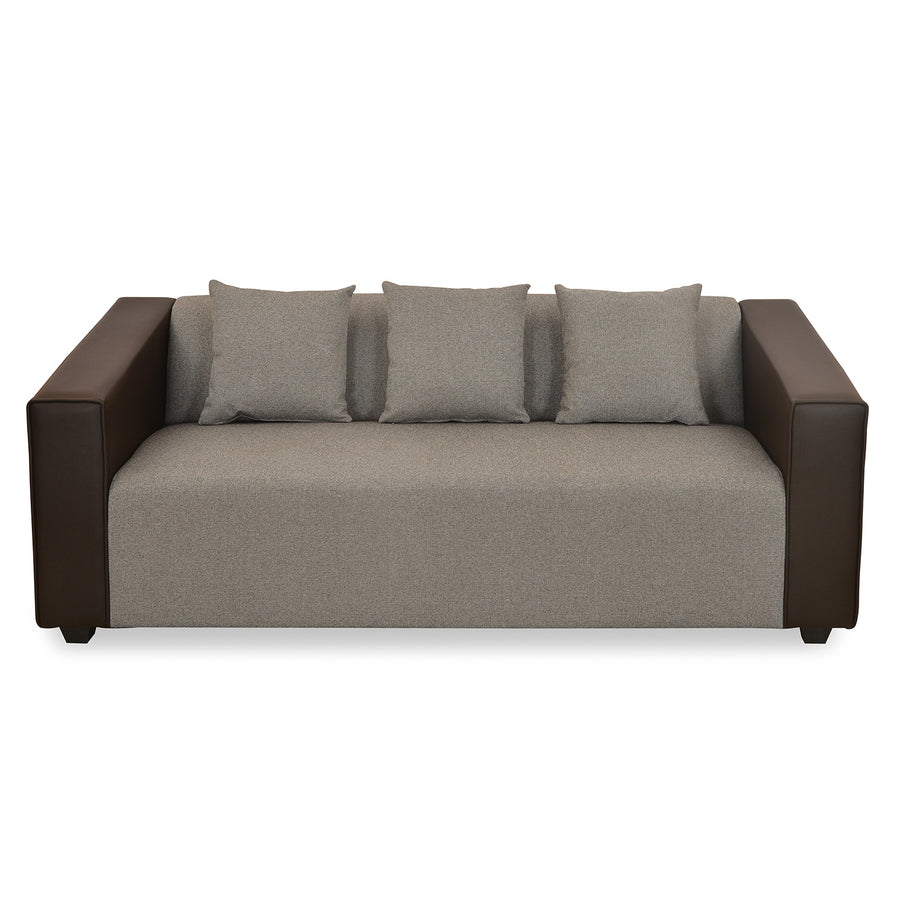 Diana Three Seater Sofa (Dark Brown)