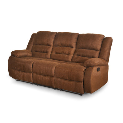 Quinn 3 Seater Sofa with 2 Manual Recliners (Sand Brown)