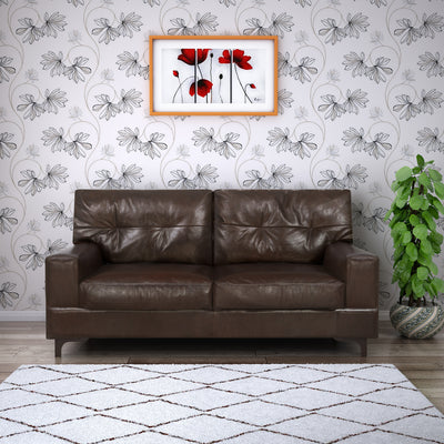 Savio Two Seater Sofa (Chestnut)