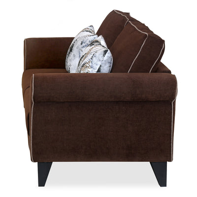 Shelby 2 Seater Sofa (Pecan Brown)