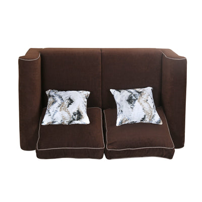 Shelby Two Seater Sofa (Pecan Brown)