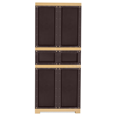 Nilkamal Freedom Cabinet with 1 Drawer in Center (Weather Brown and Biscuit)