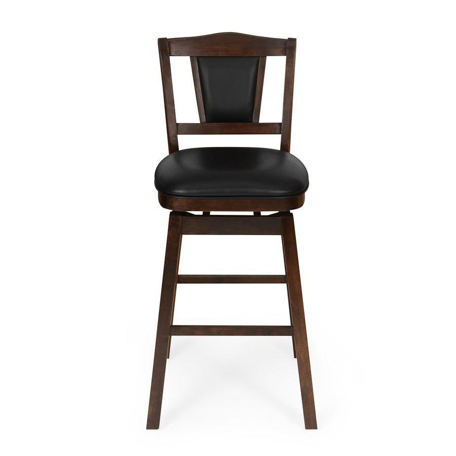 Fuzzo Swivel Bar Stool (Cappuccino)