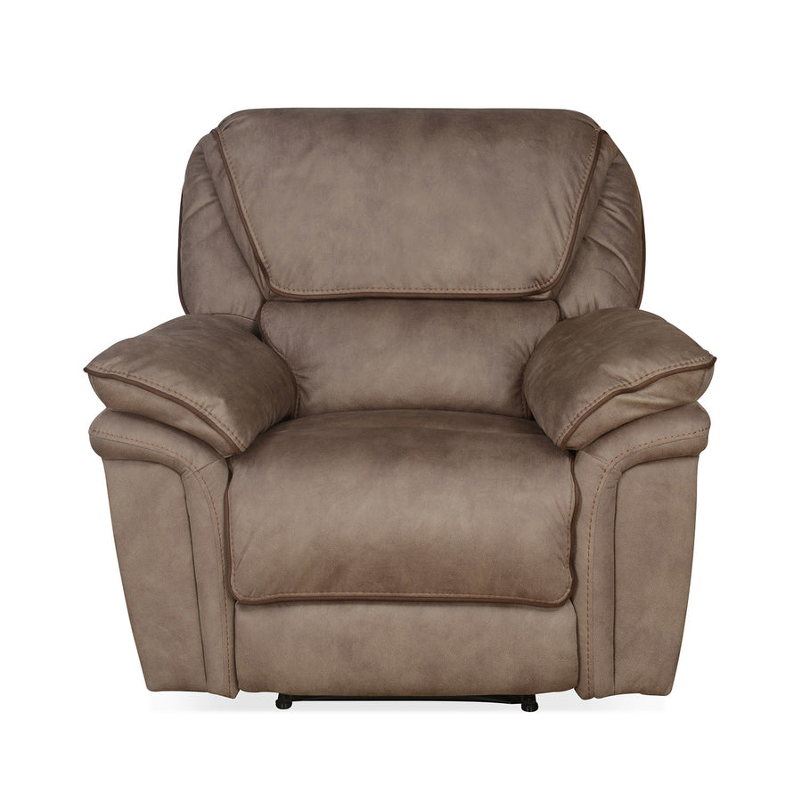 Fuzzy 1 Seater Sofa with Electric Recliner (Mocha Brown)