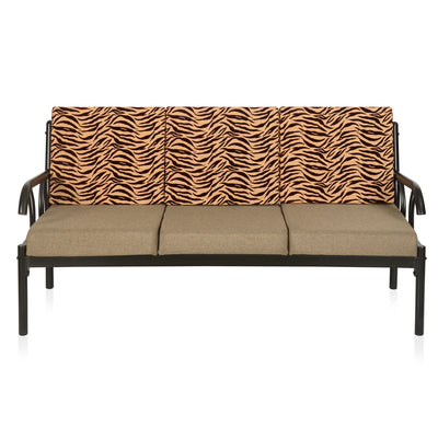 Ginny Three Seater Sofa (Black & Brown)