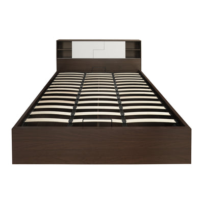 Guardian King Bed With Storage (Walnut and White)