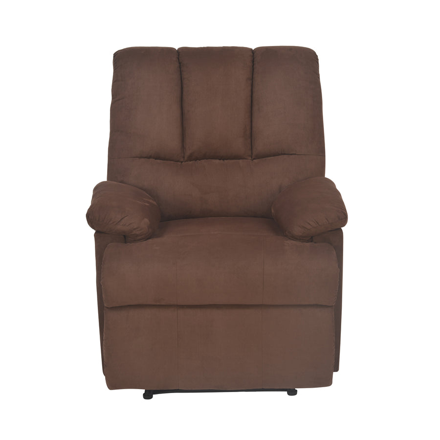 Hansel 1 Seater Sofa With Recliner (Dark Brown)