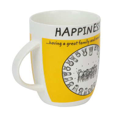 Hap Friends 420 ml Coffee Mug (Yellow)