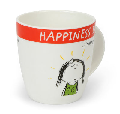 Hap Inner Peace 320 ml Coffee Mug (Red)