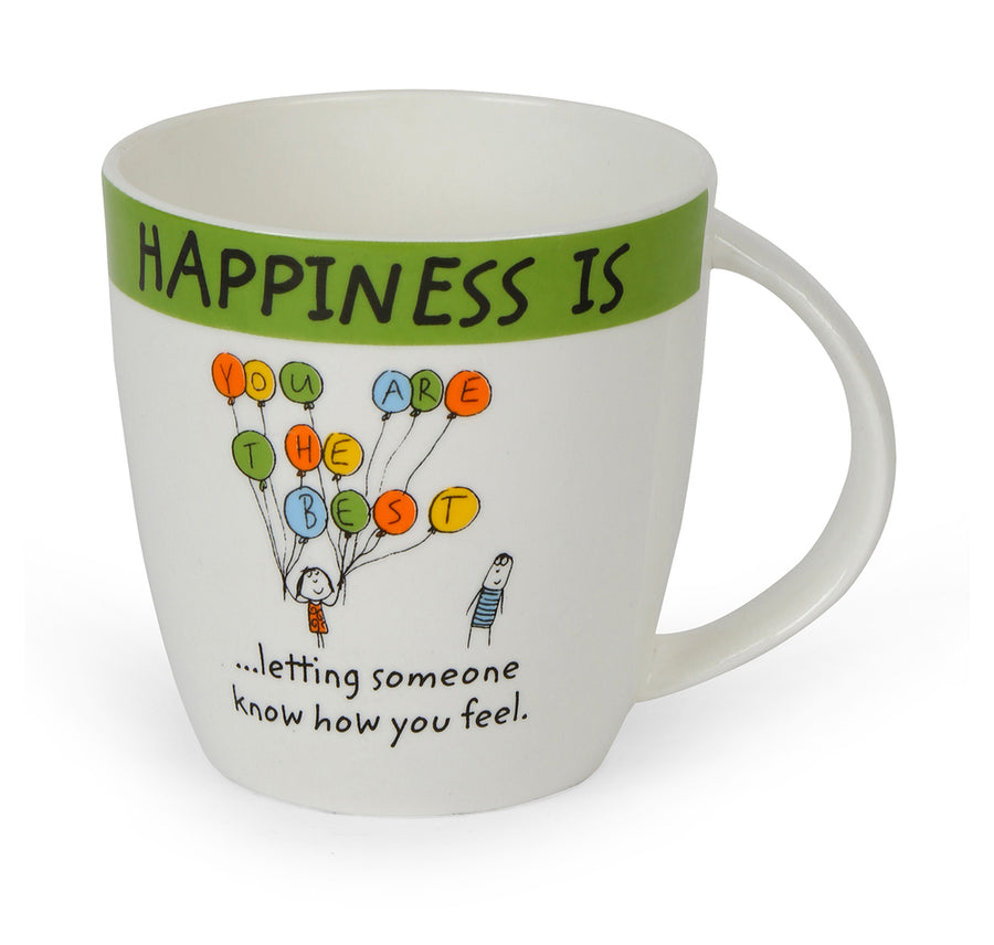Hap Letin Sum1 320 ml Coffee Mug (Green)