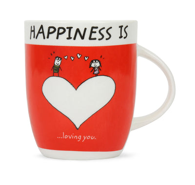 Hap Loving U 420 ml Coffee Mug (Red)