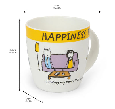 Hap Parents 320 ml Coffee Mug (Yellow)