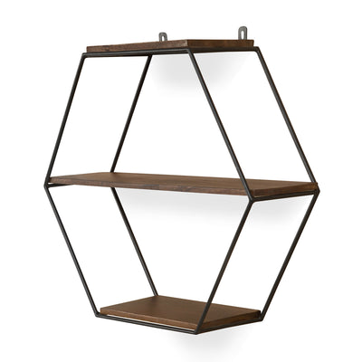 Hexad Wall Shelf (Walnut)